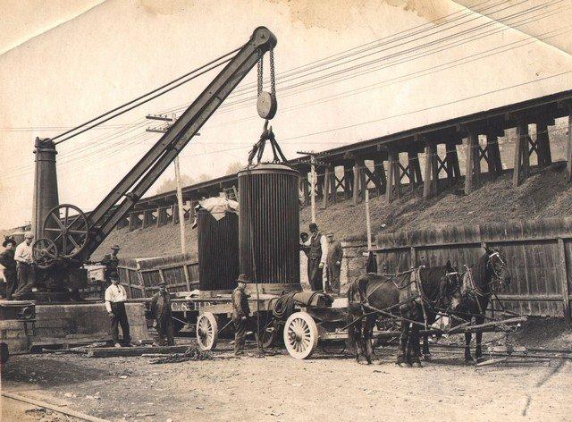 Crane Unloading from Train