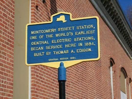 Montgomery Street Power Plant Historic Marker