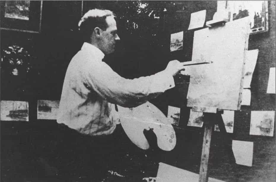 Stanton at his Easel