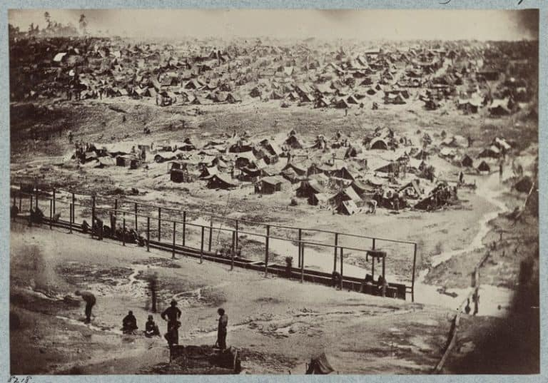 An Illustration of Andersonville Prison by Keystone circa 1890.