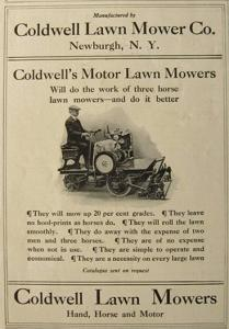 Coldwell Lawnmover Ad Boasting