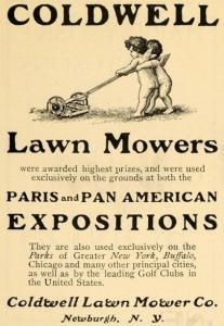 Coldwell Lawnmover Exposition Ad