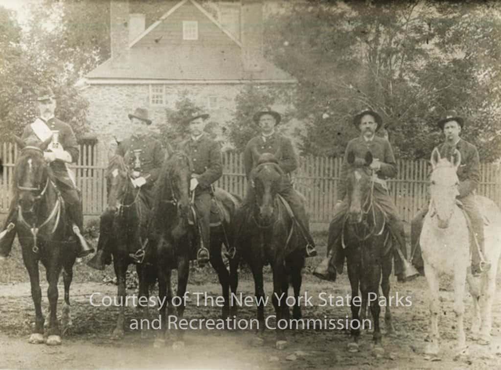WH.1972.996 - Photo - Men on Horseback at Washington's Headquart