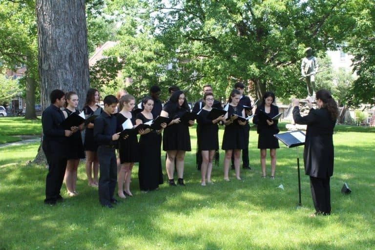 The Madrigal Choir at WHQ
